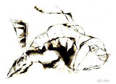 Painting - Fish 611-12-13 Marucii by Marek Lutek