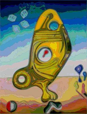 Pastel - Fish Abstract #2 by George Curington