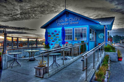 Photograph - Fish And Chips Chowder House by Thom Zehrfeld