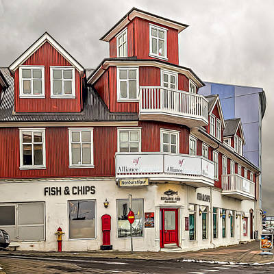 Icelandic Fish Photograph - Fish And Chips by Maria Coulson