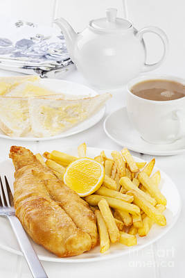 Fish Cup Photograph - Fish And Chips Supper by Colin and Linda McKie