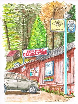 Fish Camp General Store In Yosemite National Park - California Original