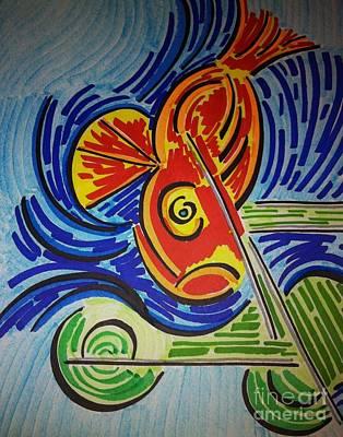 Fish Dream Art Print by Joseph Mccullagh