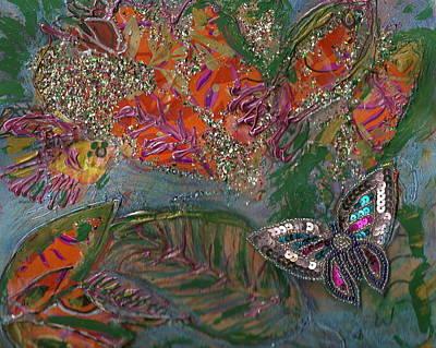 Fish Dream Of Flying Butterfly Dreams Of Swimming Art Print by Anne-Elizabeth Whiteway