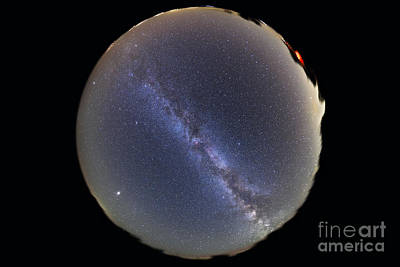 Photograph - Fish-eye Lens View Of Sky With Milky by Alan Dyer
