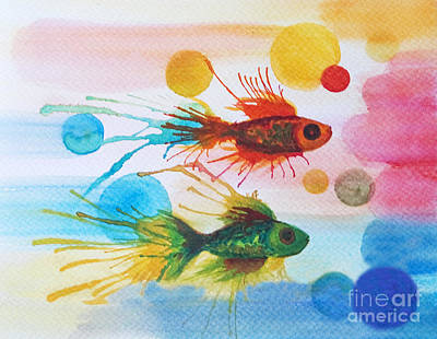 Painting - Fish Finale by Angelique Bowman