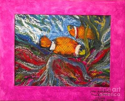 Painting - Fish Friends In The Coral by Jayne Kerr