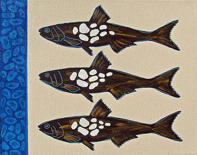 Painting - Fish Full Of Stones by Susan Greenwood Lindsay