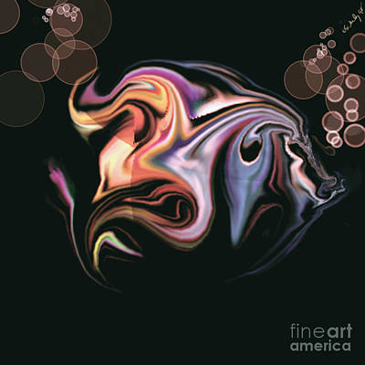 Art Print featuring the digital art Fish by Gabrielle Schertz