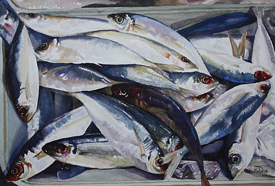 Painting - Fish by Helal Uddin