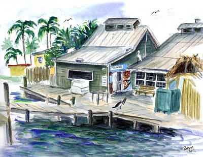 Painting - Fish House by Clara Sue Beym