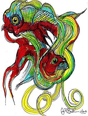 Fish  Art Print by Jon Baldwin  Art