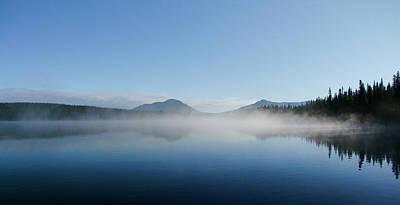 Photograph - Fish Lake Morning Mist by Philip Rispin
