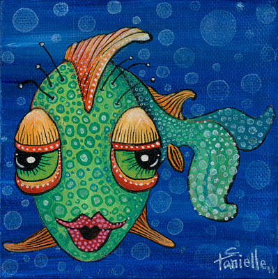 Painting - Fish Lips by Tanielle Childers