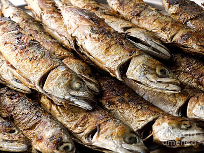 Grilled Fish Photograph - Fish On Grill by Sinisa Botas