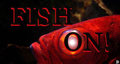 Fish On Smart Phone Case Work Red Fish Art Print