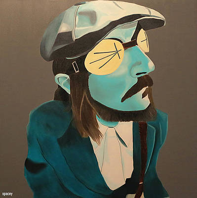 Les Claypool Painting - Fish Out Of Water by Spacey Modern Art