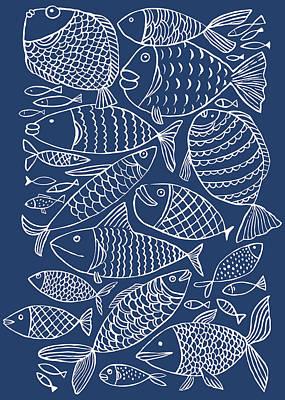 Digital Art - Fish Pattern by Marabird