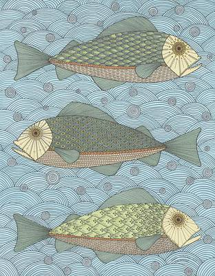 Drawing - Fish Patterns by Pamela Schiermeyer