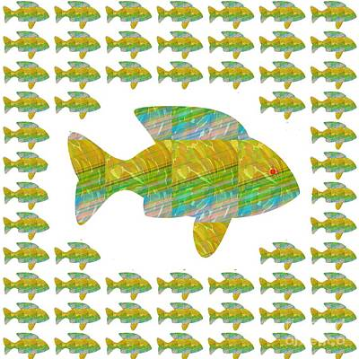 Mixed Media - Fish Poisson  Exotic Exotique Speed Delicacy Delicatesse Delicacy Graphic Digital Numerique Graphiqu by Navin Joshi