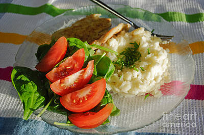 Photograph - Fish Potato Dinner by Adria Trail