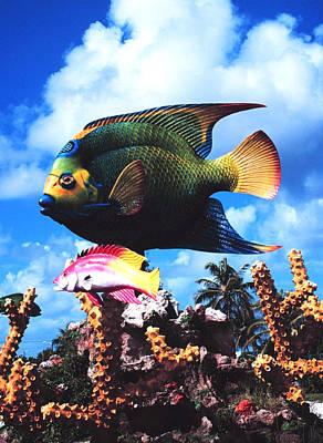 Sunfish Digital Art - Fish Sculpture by Unknown
