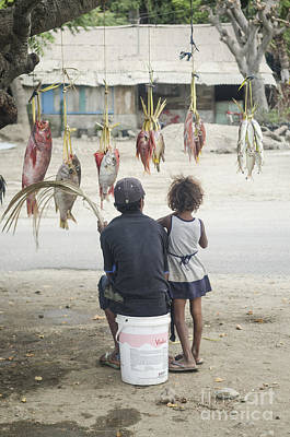 Pop Art Rights Managed Images - Fish Seller On Street Dili East Timor Royalty-Free Image by JM Travel Photography