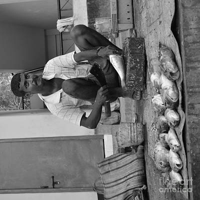 Fish Stall  Art Print by Bobby Mandal