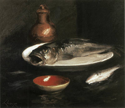 Painting - Fish Still Life by William Merritt Chase