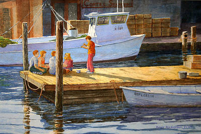 Painting - Fish Tales At Cortez by Roger Rockefeller