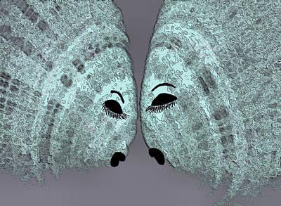 Animals Digital Art - Fish Talk by Rosalie Scanlon
