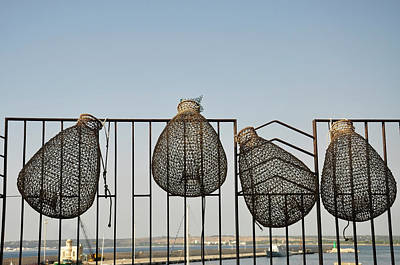 Trapped Photograph - Fish Traps by Stefano Salvetti
