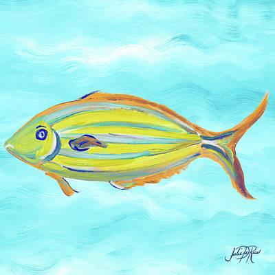 Fish Underwater Painting - Fish Underwater I by Julie Derice