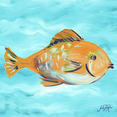 Fish Underwater Painting - Fish Underwater II by Julie Derice