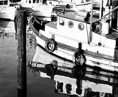 Photograph - Fishboat Reflections by Robert  Rodvik