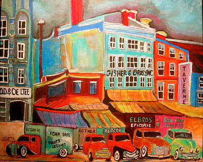 Loading Docks Painting - Fisher Bros. Old Montreal Memories by Michael Litvack