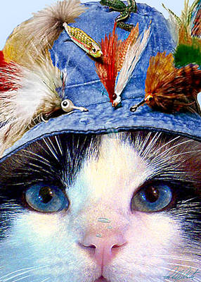 Mixed Media Royalty Free Images - Fisher Cat Royalty-Free Image by Michele Avanti