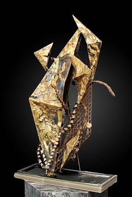 Brass Brazing Sculpture - Fisher Of Men by GK Brock