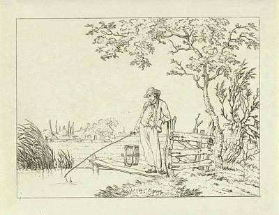Fisher On Deck, Hermanus Fock Print by Hermanus Fock