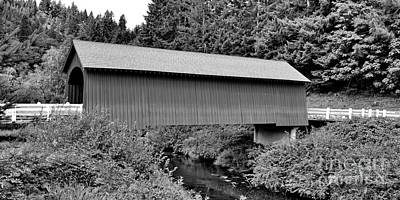 Photograph - Fisher School Covered Bridge by Ansel Price