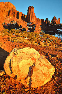 Photograph - Fisher Towers 1 by Ray Mathis