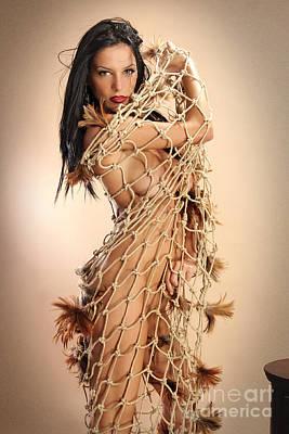 Fishergirl Nude Art Print by Emil Jianu