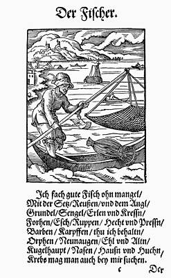 Net Painting - Fisherman, 1568 by Granger