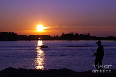 Photograph - Fisherman At Sunset No. Three by Andrea Kollo