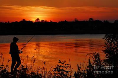 Photograph - Fisherman At Sunset No. Two by Andrea Kollo
