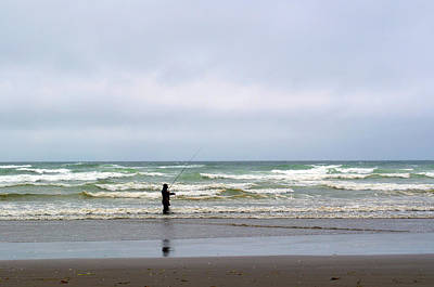 Photograph - Fisherman Bracing The Weather by Tikvah's Hope