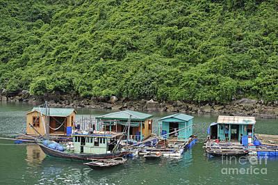 Fisherman Floatting Houses Art Print by Sami Sarkis