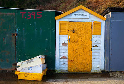 Fisherman Hut At The Harbour, Tramore Art Print by Panoramic Images