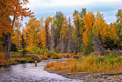 Fisherman In Alaska In Autumn Art Print