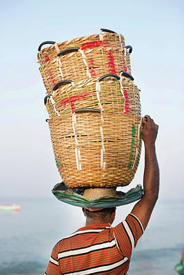 Kerala Photograph - Fisherman In Kerala by Gary John Norman
